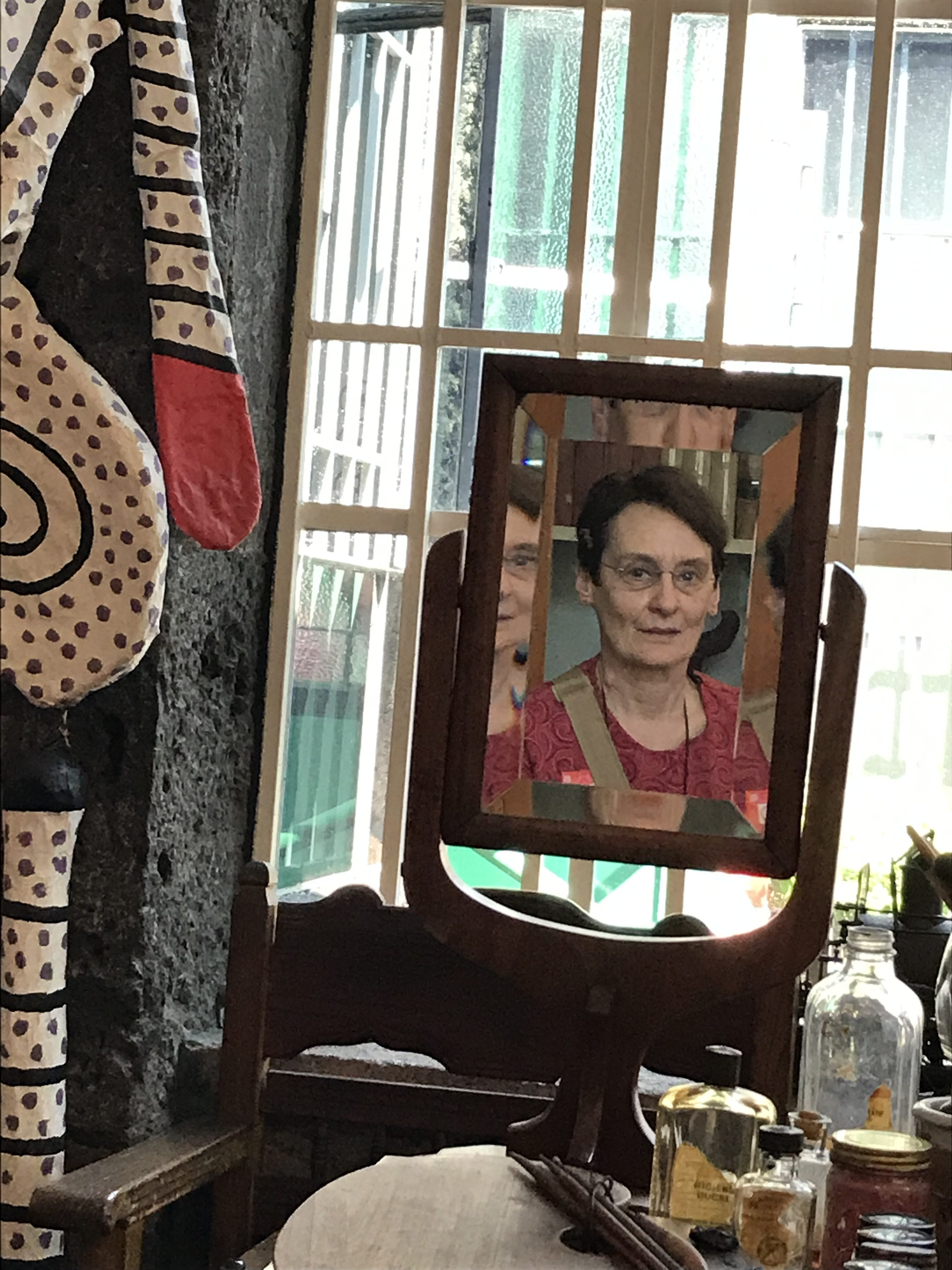 Jan Kurtz image being reflected back out of Frida Kahlo's personal mirror
