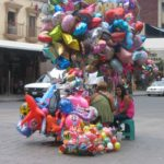 Every day at the PLAZA is market day for street merchants. Balloons are a featured option, all day long.