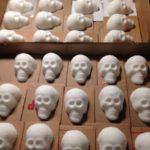 Sugar skulls made with sugar, meringue powder and water