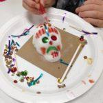 Decorating a sugar skull