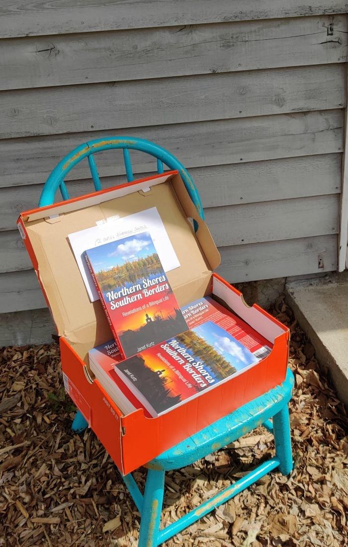 Brown Bag Book chair sale