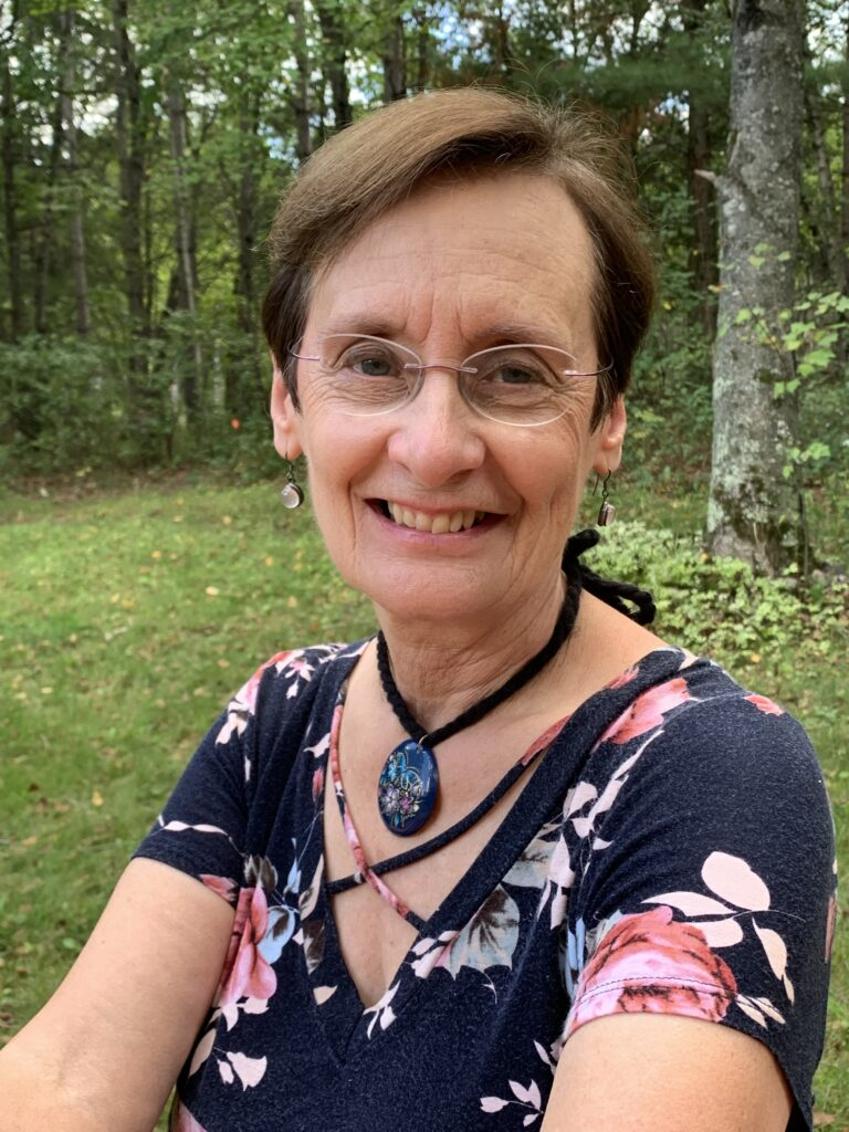 Author at her northwoods home